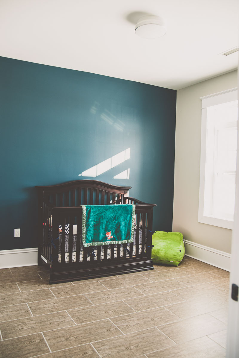 A perfectly appointed room for a baby boy with lots of space